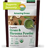 Amazing Grass Greens & Shrooms Booster: Super Greens Smoothie Booster with Cordyceps, Turkey Tail, Reishi & Shitake, 30…