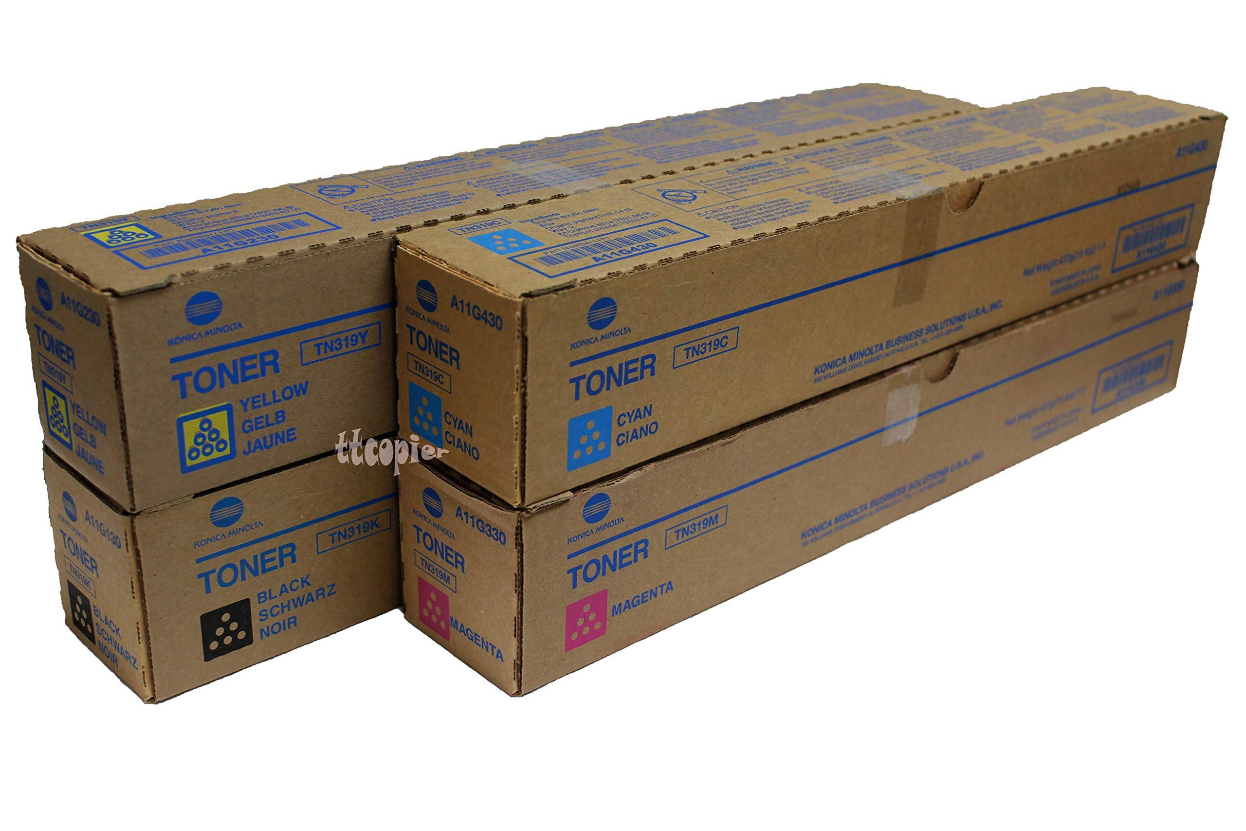 Genuine Konica Minolta Set A11G330 A11G130 A11G230 A11G430 TN319 CMYK Toner for C360
