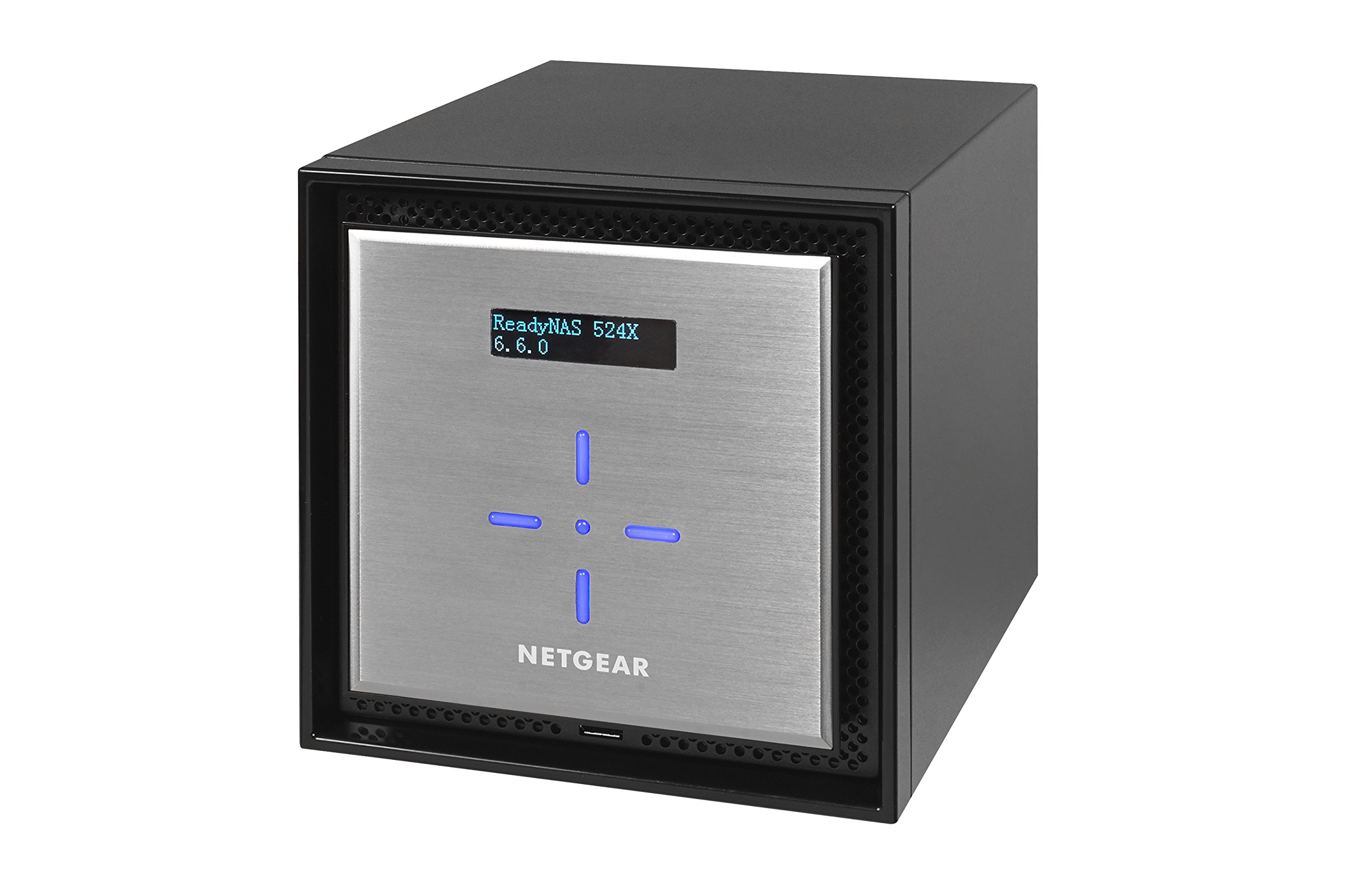 NETGEAR ReadyNAS RN524X00 4 Bay Diskless Premium Performance NAS, 40TB Capacity Network Attached Storage, Intel 2.2GHz Dual Core Processor, 4GB RAM 2 PREMIUM PERFORMANCE - Up to 20 gigabit per second data access, powered by a server processor 10G CONNECTIVITY - Utilize your 10G infrastructure for fast data sharing and backup throughput HIGH-PERFORMANCE - Get 2x faster business application processing with the latest 64-bit technology