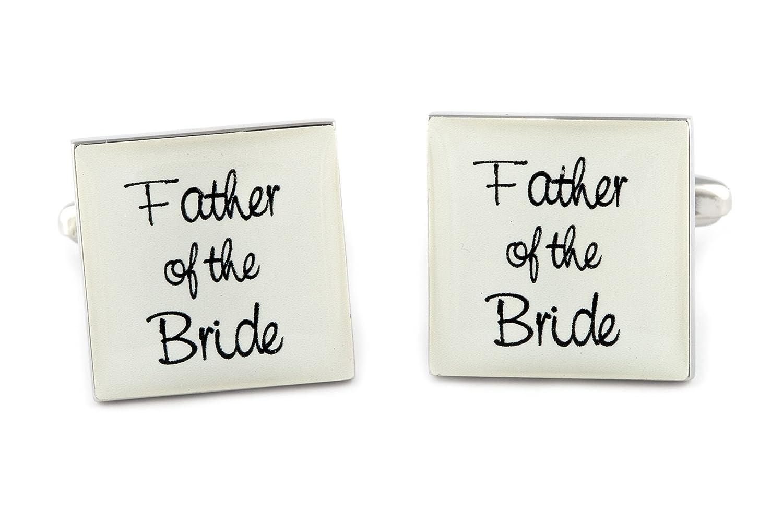 Gemelos para hombre cuadrado marfil Padre de la novia mancuernas de la boda: Amazon.es: Joyería