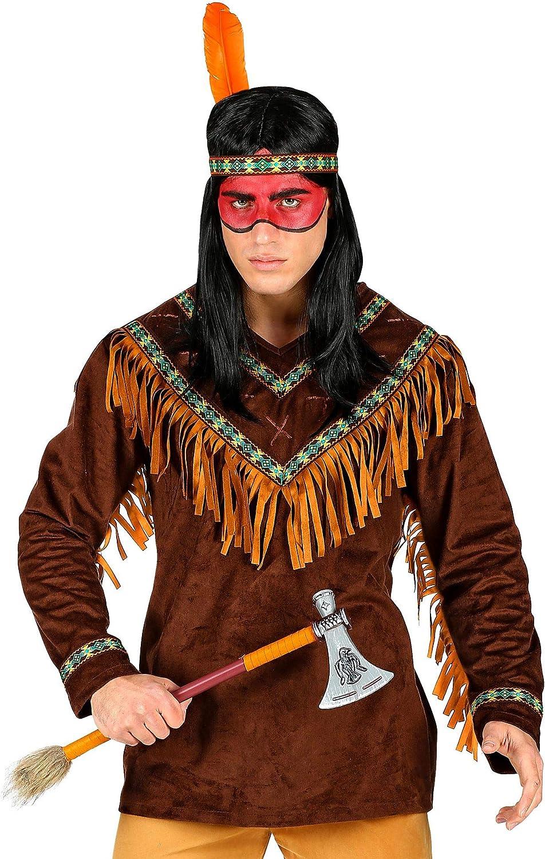 WIDMANN 00234 Disfraz de indio, para hombre, marrón, XL: Amazon.es ...