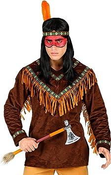 WIDMANN 00232 Disfraz de indio, para hombre, marrón, M , color ...