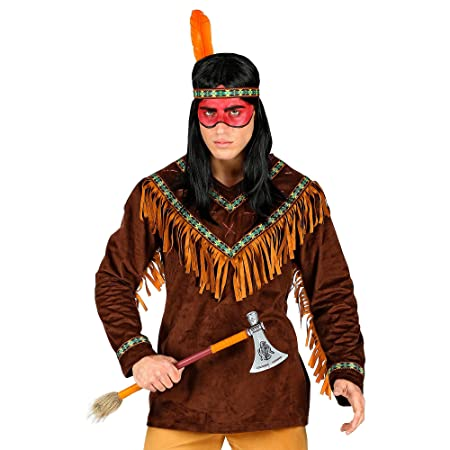 WIDMANN 00233 Disfraz de indio, para hombre, marrón, L: Amazon.es ...