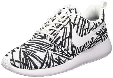 58b0dcfcc92f Amazon.com  Nike Roshe One Rosheone Print Sneaker White Black