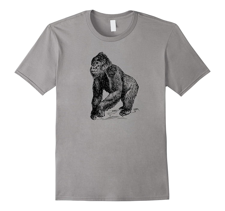 Gorilla Shirts: Simple Gorilla Graphic T-Shirt-FL