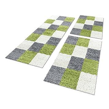 Bettumrandung Schlafzimmer | Amazon De Shaggy Hochflor Teppich Carpet 3tlg Bettumrandung Laufer