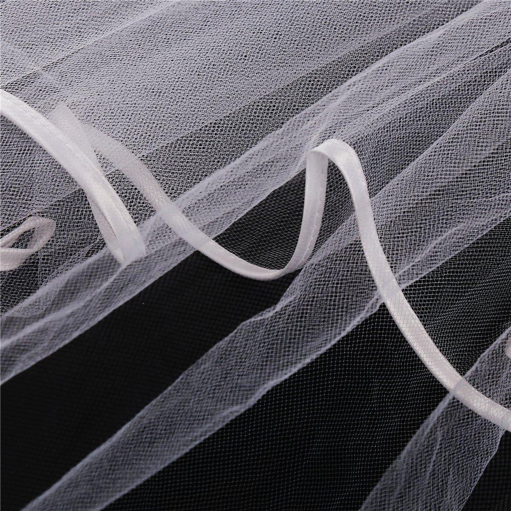 LGT Hen Party Wedding Bridal Veil With Comb And Hen Party Bride to Be Glasses Hen Party Accessories Glasses and Veil Set