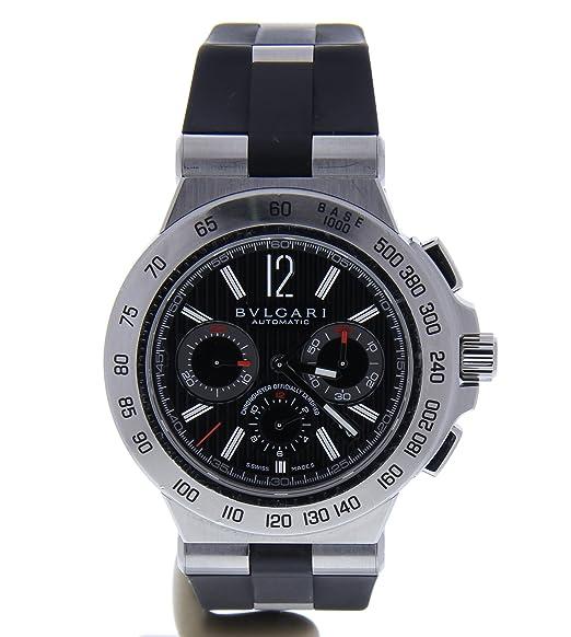 Bvlgari diagono automatic-self-wind Mens Reloj dp42sch (Certificado) de segunda mano: Bvlgari: Amazon.es: Relojes
