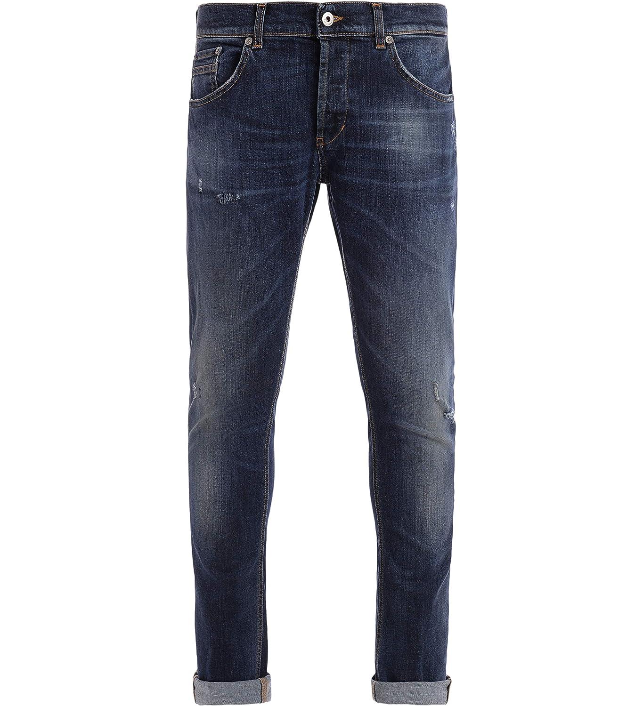 DONDUP Jeans Ritchie Skinny Fit Chiusura Un Bottone a Vista Tre a Scomparsa Logo in Metallo sul Retro Tasche Tre Frontali Due sul Retro