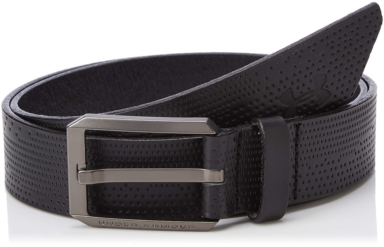 Under Armour Men UA Laser Perf Leather Belt 30 Black