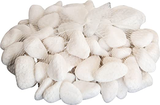 Homeshop3000 Piedras Brillantes Bolsa 2Kg Piedras Blancas Naturales Decoración Manualidades: Amazon.es: Jardín
