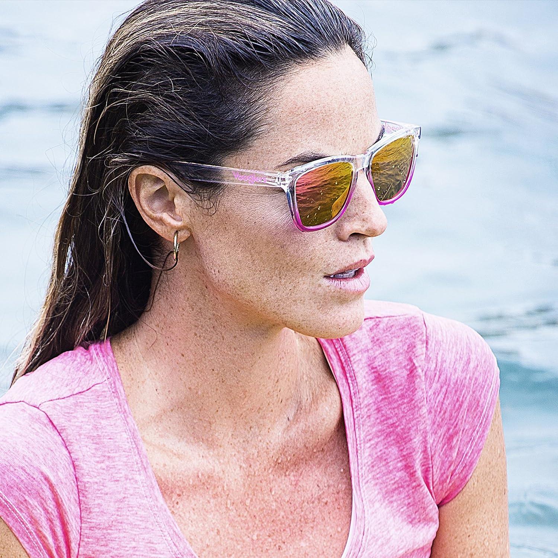 44224e72ce Gafas de Sol Mujer Unisex Polarizadas UV400 Vooglers California Beach  Cristales Lentes Rosas Espejo Bicolor Rosa Marco Transparente Brillo  Ligeras Wayfarer: ...