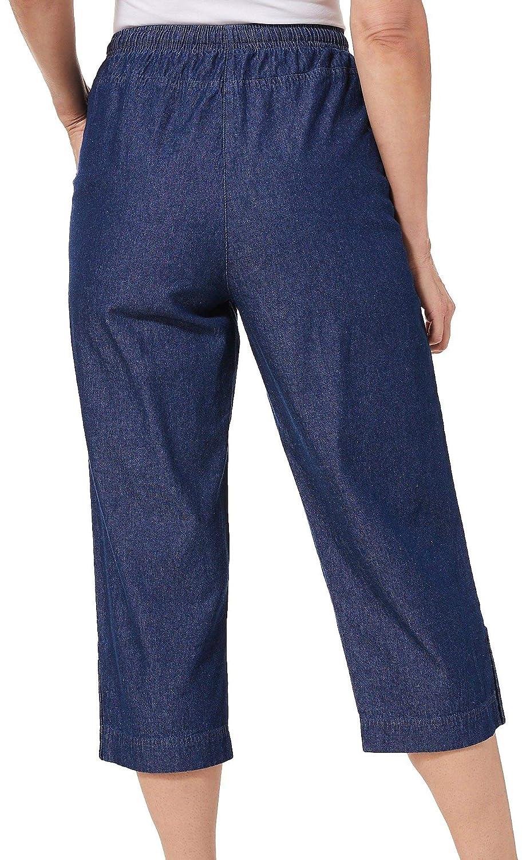 b431650e8ae Cathy Daniels Womens Pull On Button Hem Capris at Amazon Women s Clothing  store