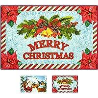 Softlife Merry Christmas Decorative Rug 24 x 36 inch Indoor Entrance Doormat Welcome Runner Rug for Bedroom Playroom…
