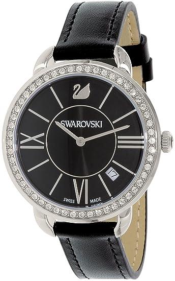 Reloj Swarovski Mujer Piel Swiss Cuarzo De 5172151 La Negro lFcJK1