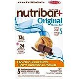 Nutribar Original Nutribar+ Original Meal Replacement Bars, Chocolate Peanut Butter, 5 Bars 5 count (2757800652)