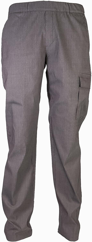 166 SIGGI gr Pantaloni cuoco elasticizzati Austin in poliestre//cotone//elastan Colore tortora Girovita elasticizzato con coulisse Peso al mq
