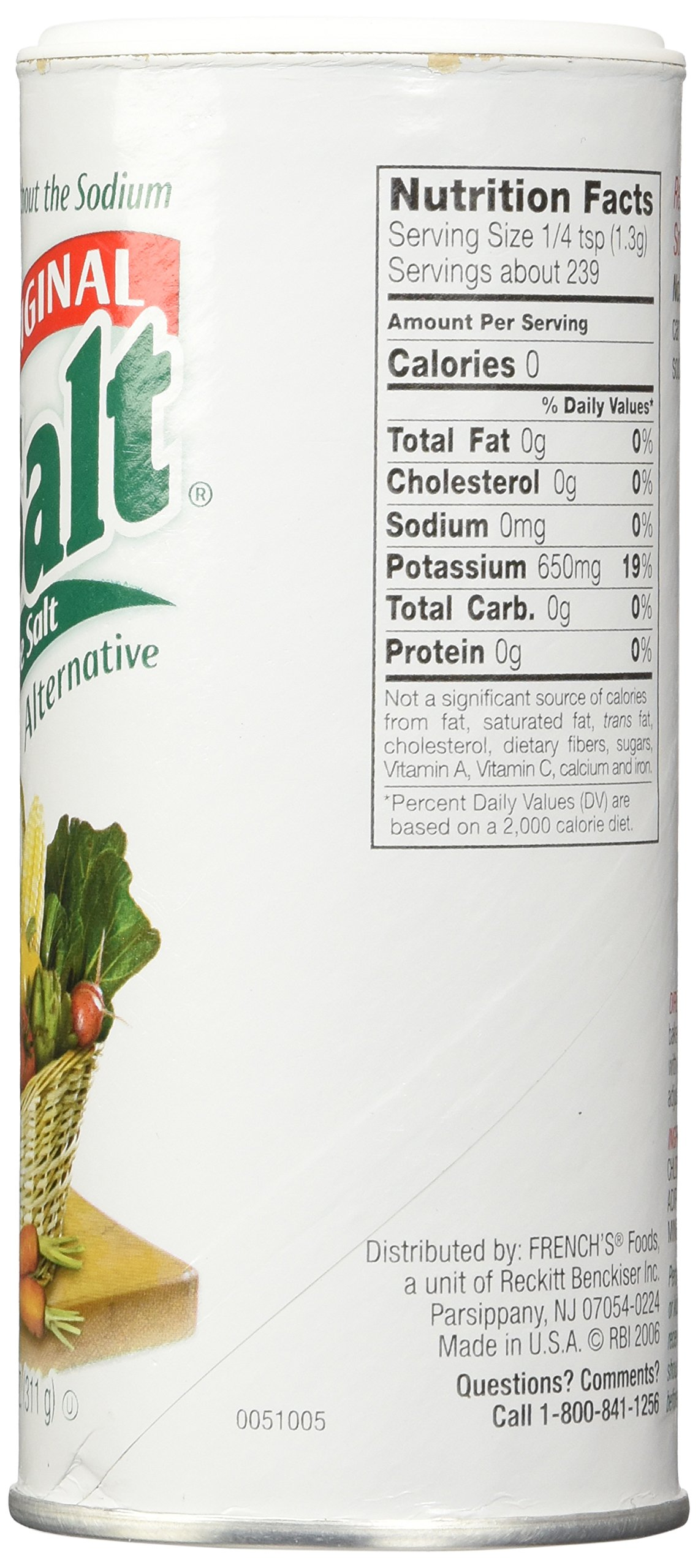 NoSalt Original Sodium-Free Salt Alternative 11 Ounce (Pack of 2) by Nosalt (Image #4)