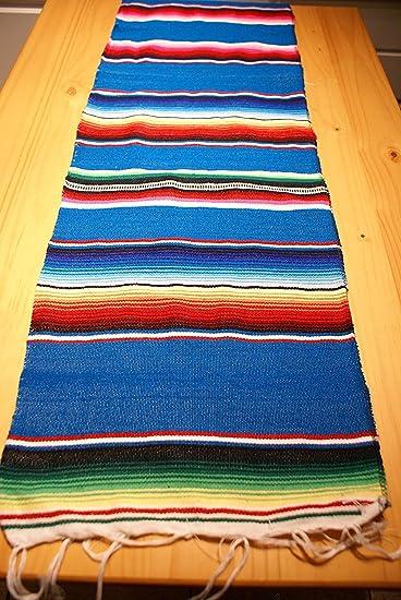 Nice Mexican Table Runner Large 72u0026quot;x14u0026quot; Saltillo Serape Colorful  Striped Sarape ...