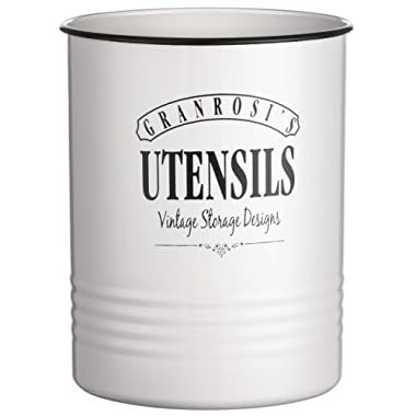 Farmhouse Utensil Holder - Perfect For Large Cooking Tools Like Spatulas - Retro Kitchen Utensil Holder Adds A Unique Vintage Decor Style To Every Kitchen