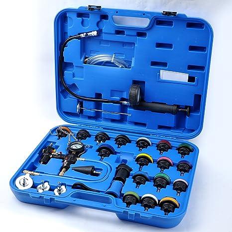 Neumático Universal Radiador Presión Prueba y fugas vacuum-type Kit de sistema de refrigeración con