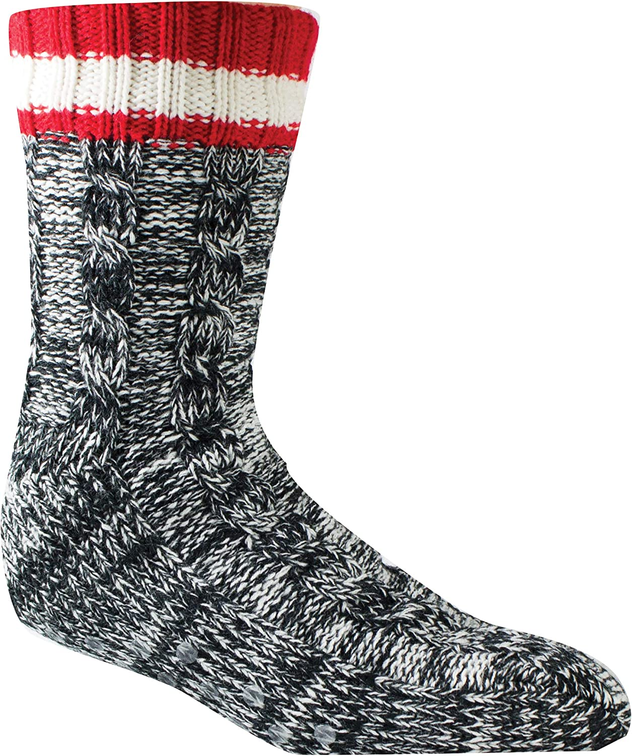 Woolrich, Men's Slipper Sock, Black, Large
