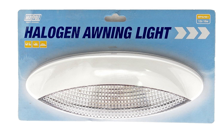 maypole 82961 awning light with halogen bulb white amazon co uk