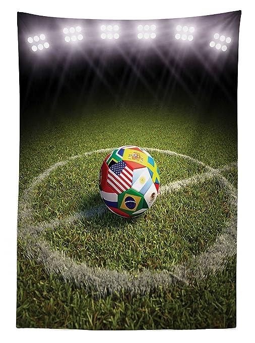 vipsung Deportes Decor Mantel un balón de fútbol en un Campo de ...