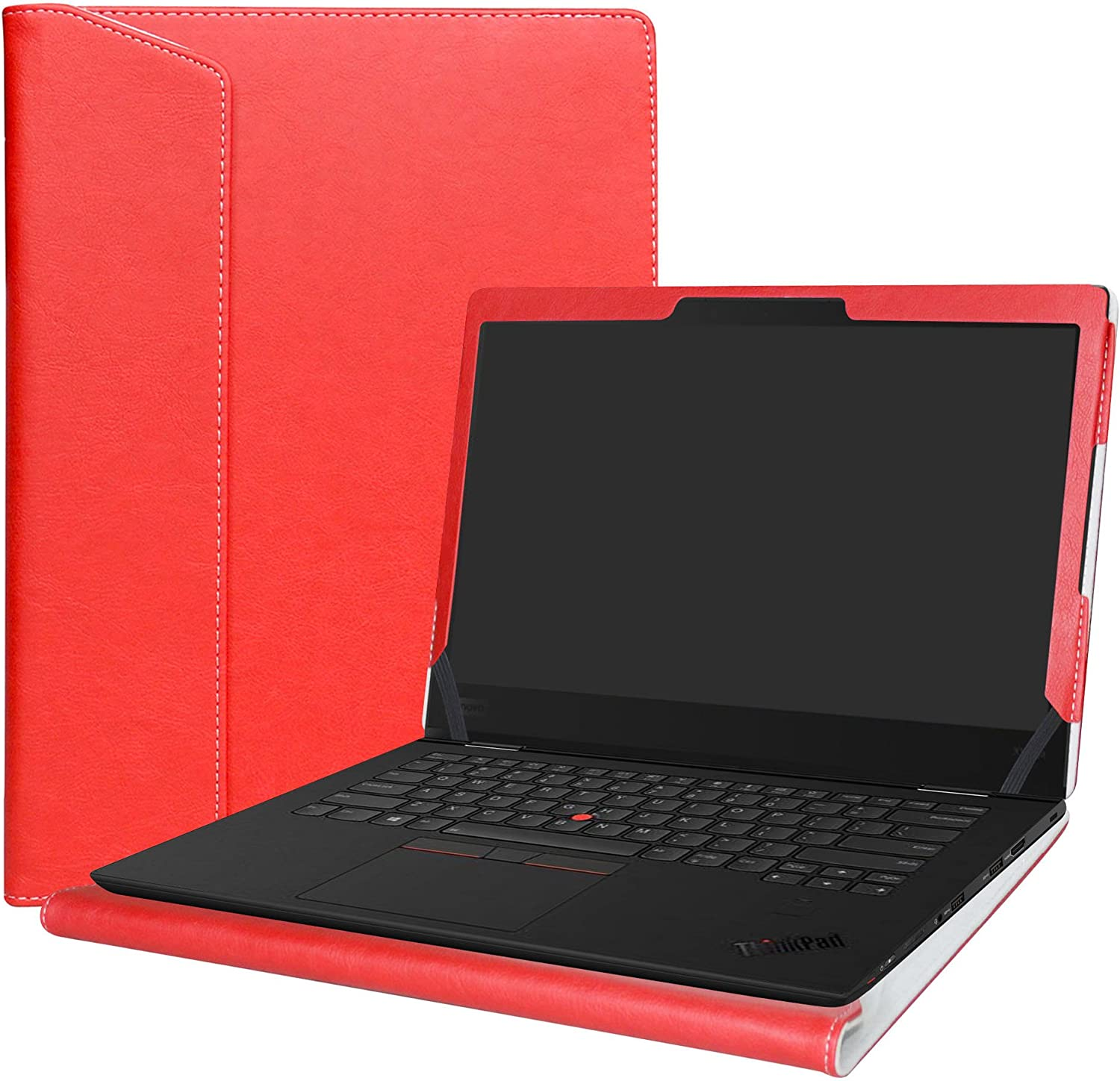 "Alapmk Protective Case Cover for 14"" Lenovo Thinkpad X1 Yoga 1st Gen & 2nd Gen & 3rd Gen Series Laptop(Note:Not fit Thinkpad X1 Yoga 4th Gen/Thinkpad X1 Carbon Series),Red"