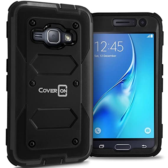 new style 9fd63 c1094 Galaxy Express 3 Case, Galaxy Luna Case (2016), CoverON [Tank Series] Tough  Hybrid Hard Armor Phone Cover Case for Samsung Galaxy J1 Luna 4G LTE - ...