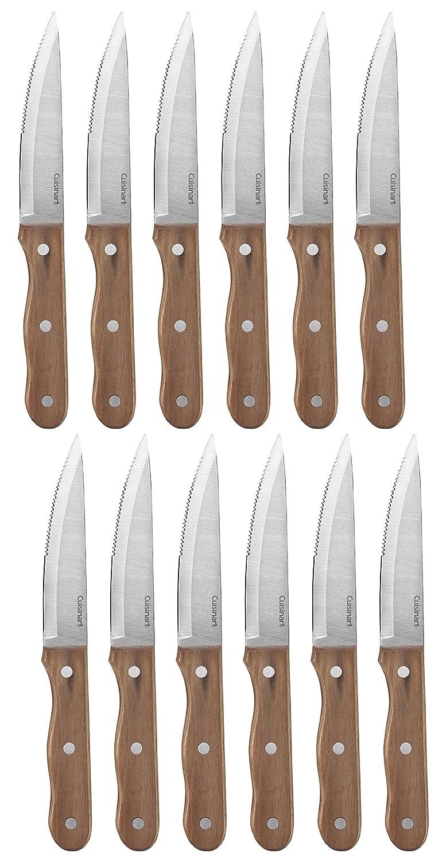 Cuisinart Advantage 6-Piece Triple Rivet Walnut Steak Knife Set 2 Pack (2)