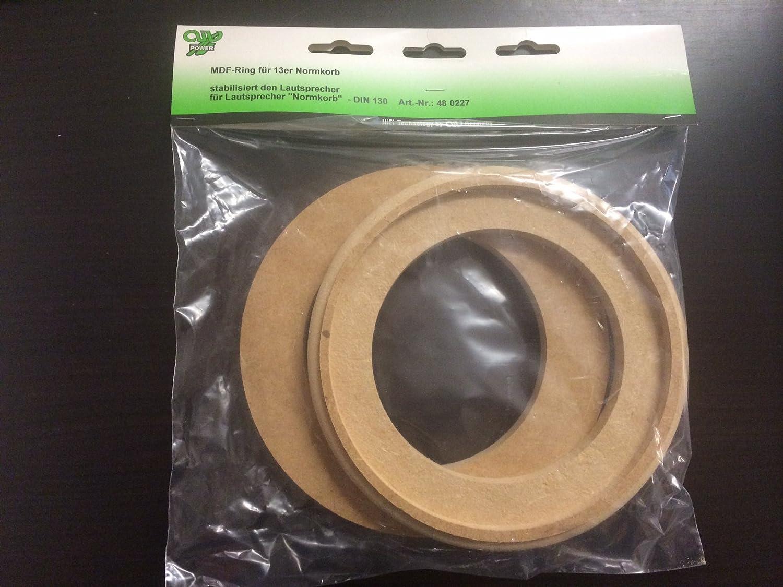 AIV 480227 13cm MDF-Ringe Paar mit Falz fü r Normkorb - 13er