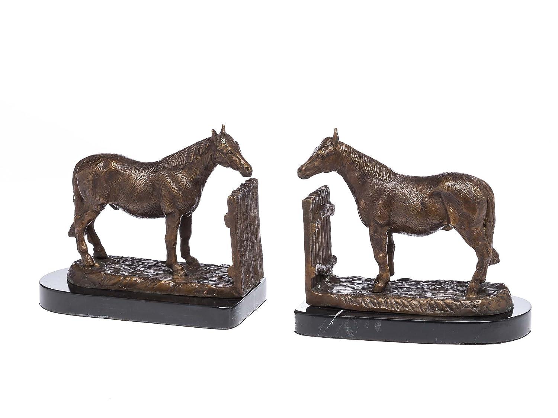 2 Buchstützen Bronze Skulptur Skulptur Skulptur Figur Pferd Bronzeskulptur Bronzefigur Buch Horse 0d79d0