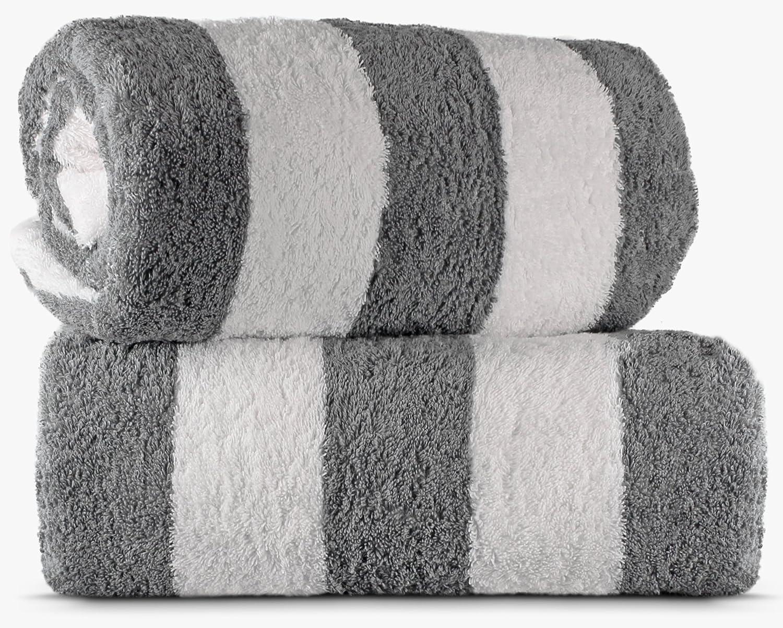 TURKUOISE TURKISH TOWEL Beach Towel Pool Towel Salmon TRK-CBN-STR-SLM-FBA-2SET