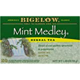 Bigelow Mint Medley Herbal Tea Bags, 20-Count Boxes (Pack of 6), Mint Tea Bags, Peppermint & Spearmint Herbal Tea, All Natural, Gluten Free
