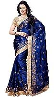 Shree Sanskruti Satin Saree (Bancidhar Nevyblue_Nevy Blue)