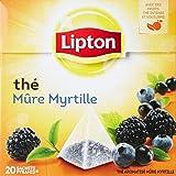 Lipton Thé Mure Myrtille 20 Sachets 36g Lot de 3