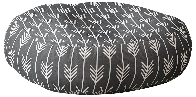 Deny Designs Holli Zollinger Arrows Grey Floor Pillow DENY Designs Baby 57458-flpr23