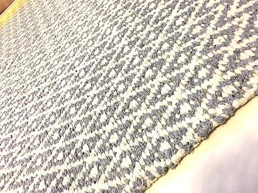 Alfombra de algodón natural con flecos de yute, reversible ...