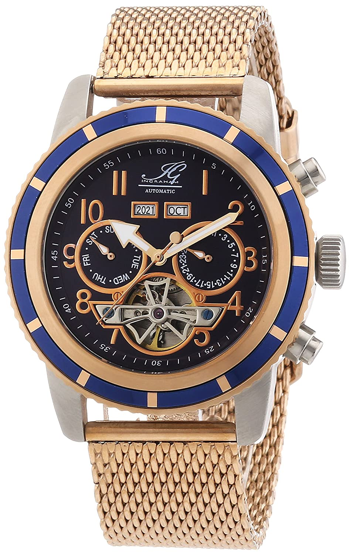 Ingraham Herren-Armbanduhr XL Portland Analog Automatik Edelstahl beschichtet IG PORT.1.223355