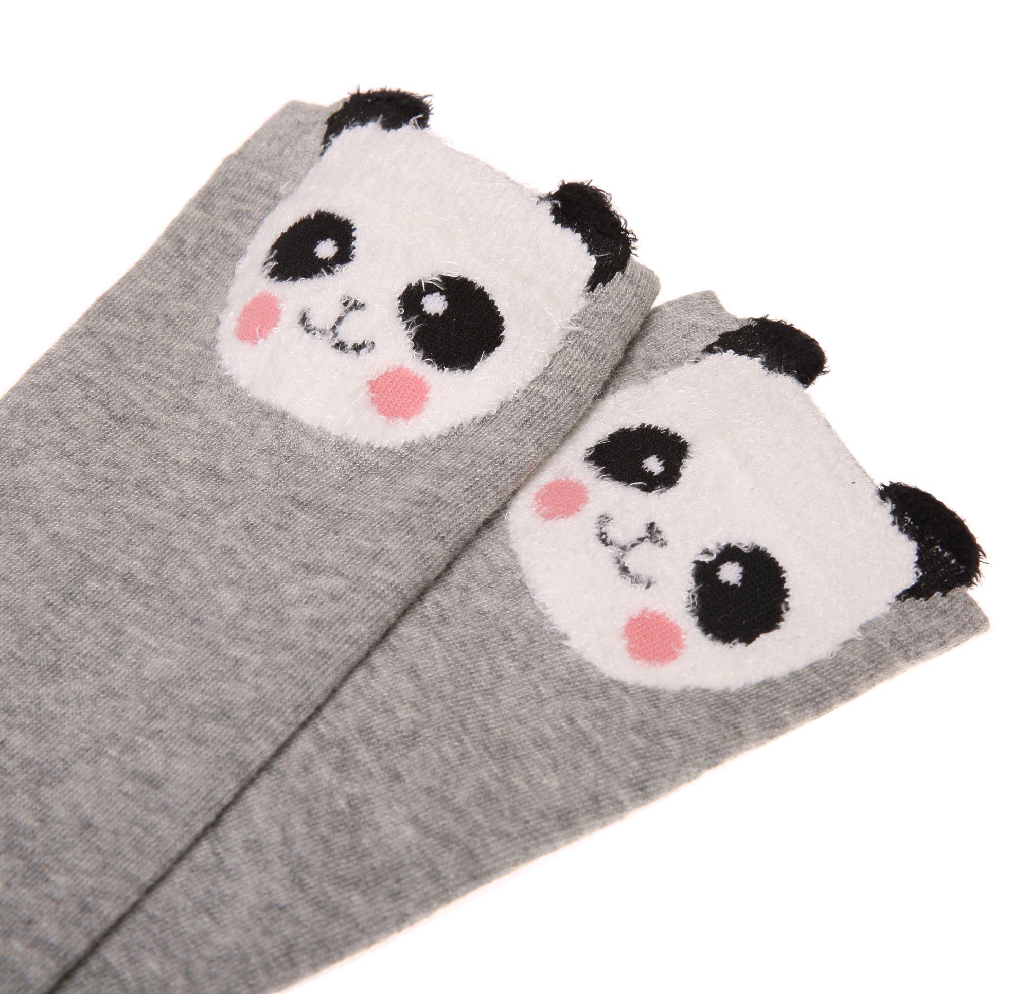 Color City Kids Girls Socks Knee High Stockings Cartoon Animal Theme Cotton Socks (6 Pairs) by Color City (Image #5)