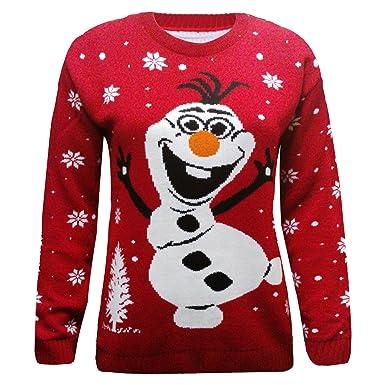 rivenditore all'ingrosso 58ed3 fa008 Olaf maglione natalizio - rosso lavorato a maglia pupazzo di ...