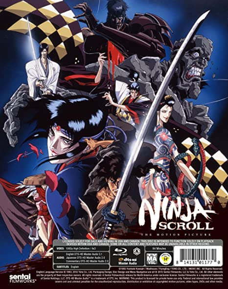 Amazon.com: Ninja Scroll [Blu-ray]: Dean Elliot, Wendee Lee ...