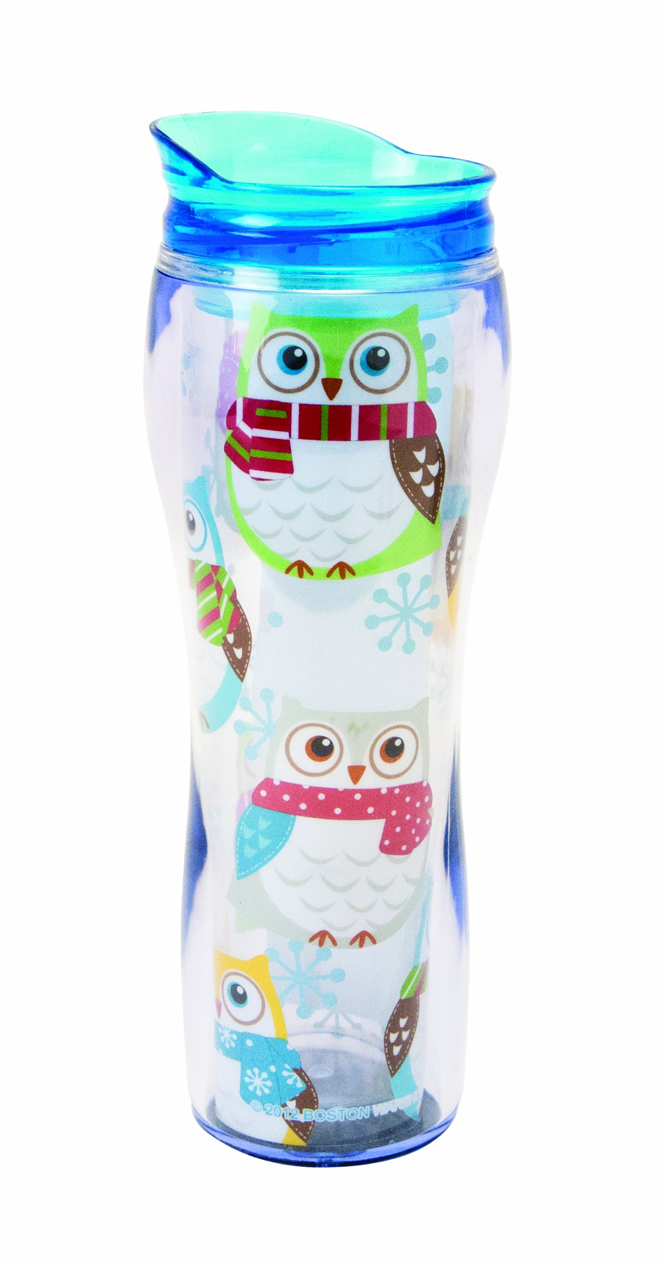Boston Warehouse Snowy Owls Insulated Travel Mug, 14-Ounce