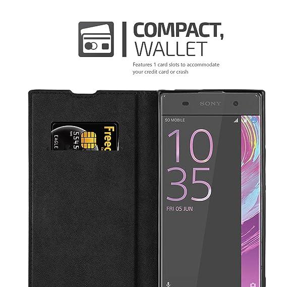 Cadorabo Funda Libro para Sony Xperia XA1 en Negro Antracita – Cubierta Proteccíon con Cierre Magnético, Tarjetero y Función de Suporte – Etui Case ...