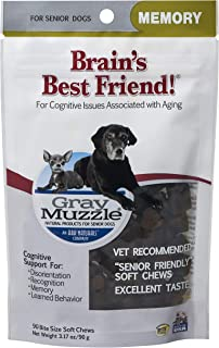 product image for Ark Naturals Gray Muzzle Brain's Best Friend, Vet Recommended Soft Chews for Cognitive Issues Associated with Aging, 90 Count