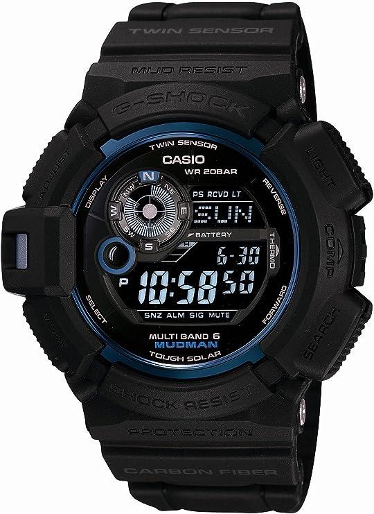 [カシオ] 腕時計 ジーショック 30th Anniversary Initial Blue 30周年記念 イニシャル・ブルー MUDMAN マッドマン Multiband6 電波ソーラーウォッチ GW-9330B-1JR ブラック