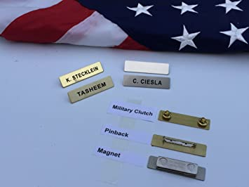 Amazon metal name badges engraved metal police fire military metal name badges engraved metal police fire military by better badges solutioingenieria Choice Image