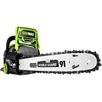 Earthwise 58-Volt Cordless Brushless Motor Chainsaw
