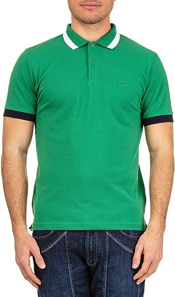 SUN 68 Luxury Fashion Hombre A1910788 Verde Polo | Otoño-Invierno ...